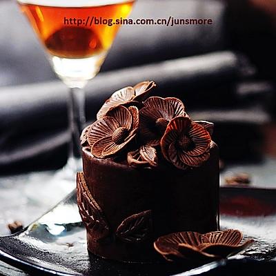 巧克力五瓣花蛋糕