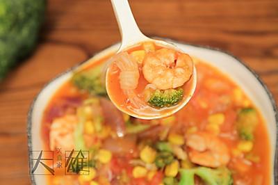 夏日低脂菜—番茄魔芋虾