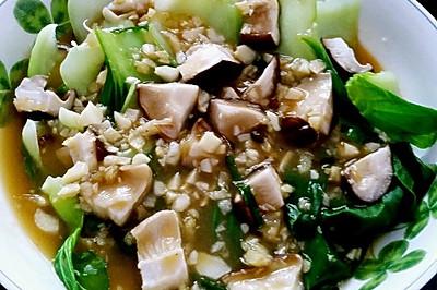 浇汁香菇上海青