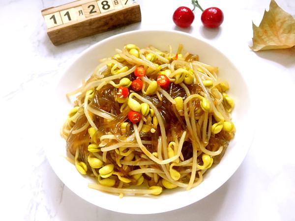 黄豆芽炒粉丝的做法