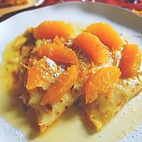 经典法式火焰甜品—橙酒煮可丽饼
