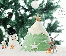 圣诞树枫糖戚风奶油蛋糕的做法