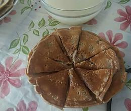 核粟饼营养早餐的做法