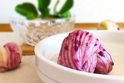44期 牛奶紫薯花卷