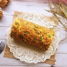 #带着美食去踏青#香葱肉松蛋糕卷