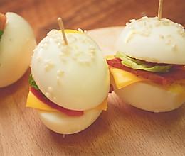 可爱的鸡蛋小汉堡实惠饱腹,比麦当劳的更健康,孩子一口一个!的做法