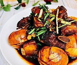 """#美食说出""""新年好""""#年味红烧肉排蛋的做法"""
