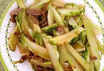 牛肉炒儿菜的做法