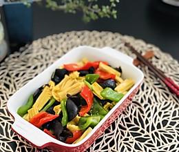 腐竹青椒炒素(美善品) 净素食的做法
