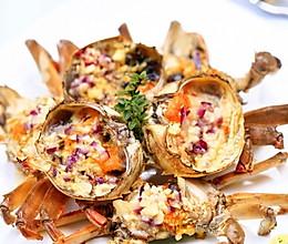 黄油焗螃蟹的做法