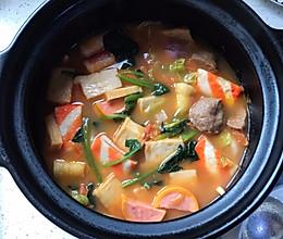 番茄砂锅丸子汤的做法