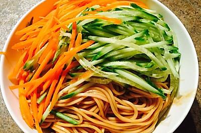 葱油拌面(蔬菜版)