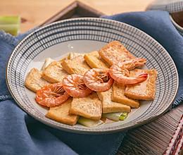 虾干烧豆腐的做法