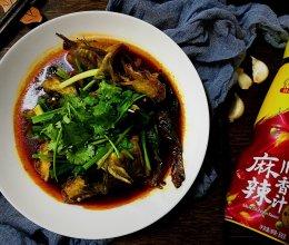 #豪吉川香美味#童年回忆:红焖黄骨鱼锅贴的做法