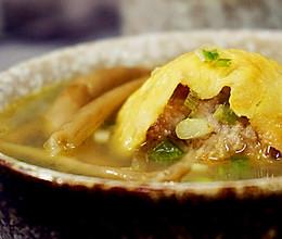 蛋包肉丸菇香汤的做法