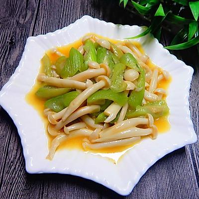 丝瓜炒白玉菇