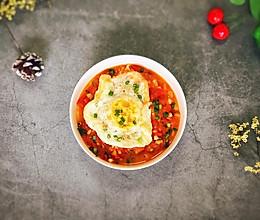 ㊙️瘦到没朋友的美食--中西合璧奶油番茄炸蛋面的做法
