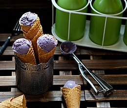蓝莓冰淇淋(不搅拌,无冰碴儿)的做法