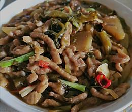 炒酸菜肉丝的做法