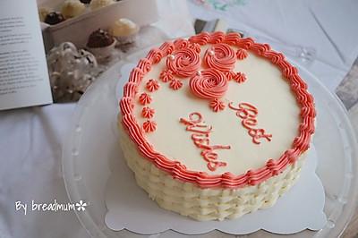 花篮裱花蛋糕#约会MOF#
