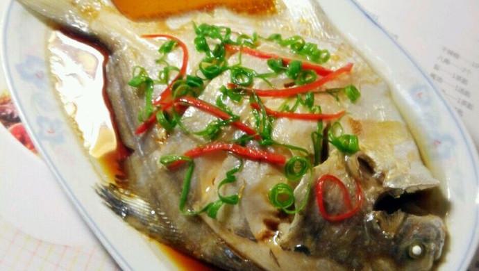 清蒸白鲳鱼