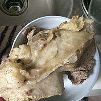 白切羊肉,羊骨汤的做法图解3
