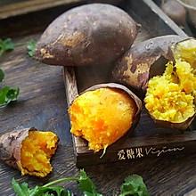 微波炉烤红薯#10分钟早餐大挑战#