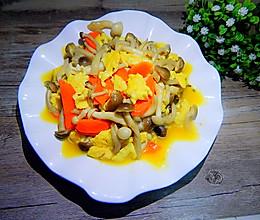 蟹味菇炒鸡蛋的做法