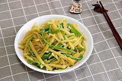 顺家私房菜——蚝油青椒土豆丝