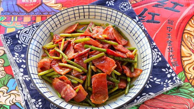火腿片炒蒜苔的做法