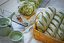 抹茶椰蓉面包卷的做法