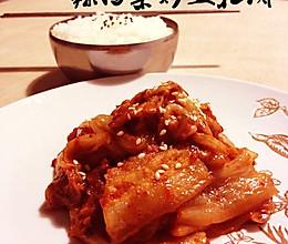 江南style,辣白菜炒五花肉的做法