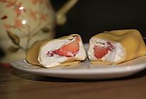 草莓班戟的做法