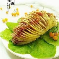 风琴土豆#美的微波炉菜谱#的做法图解6