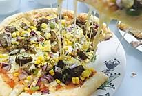 黑椒牛肉粒披萨的做法