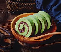 青汁红豆蛋糕卷的做法