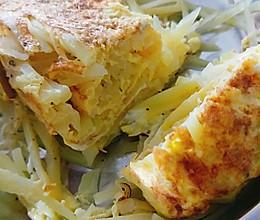 土豆厚蛋烧的做法
