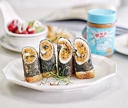 #四季宝蓝小罐#海苔花生酱吐司卷的做法