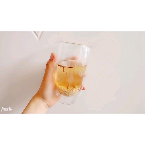 姜丝炒米养胃茶的做法