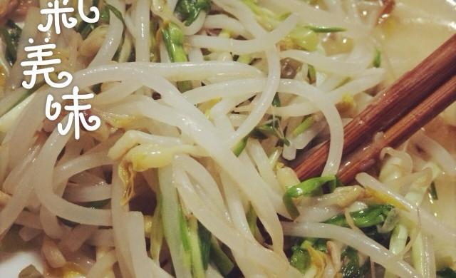 豆芽炒蒜苗