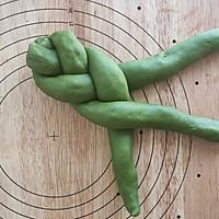 抹茶蜜豆辫子面包的做法图解13