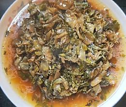 特色酸菜栀子花的做法