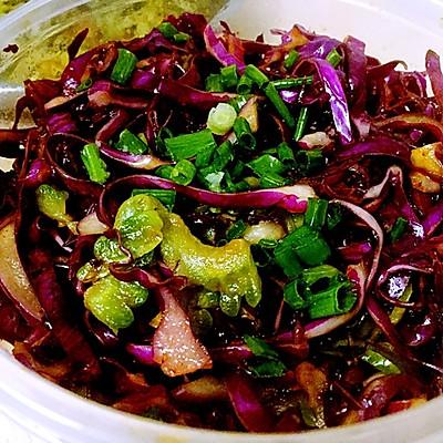 减肥餐——凉拌紫甘蓝