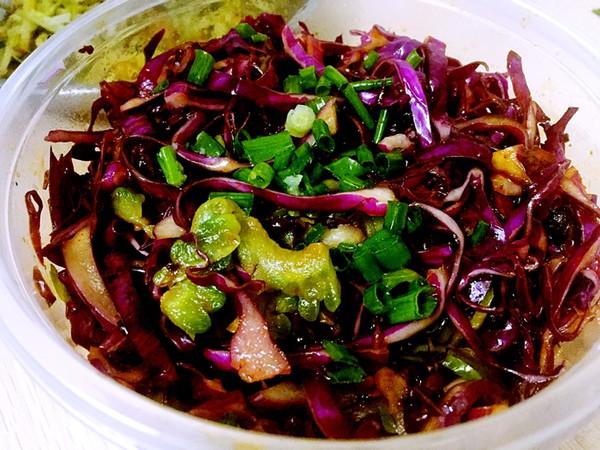 减肥餐——凉拌紫甘蓝的做法