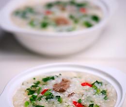 枸杞猪肝菠菜粥的做法