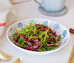 凉拌苦菊紫甘蓝#春季减肥,边吃边瘦#的做法
