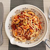 #好吃不上火#番茄蘑菇意面的做法图解9