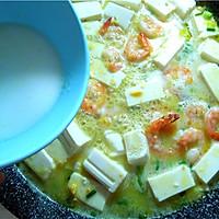 金汤虾仁豆腐羹:有内容有颜值的虾仁咸蛋黄豆腐羹的做法图解15