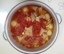 西红柿粉丝丸子汤的做法