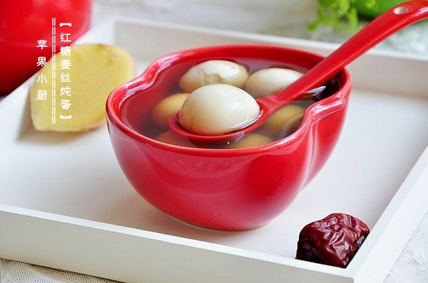 红糖姜丝炖蛋的做法